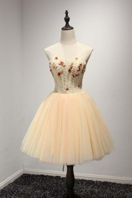 A Line Homecoming Dress,Sweetheart Homecoming Dresses,Short Homecoming Dresses,Tulle Prom Dresses