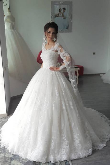 Cheap wedding dresses ,Charming Wedding Dress,Lace Wedding Dresses,Ball Gown Wedding Gown