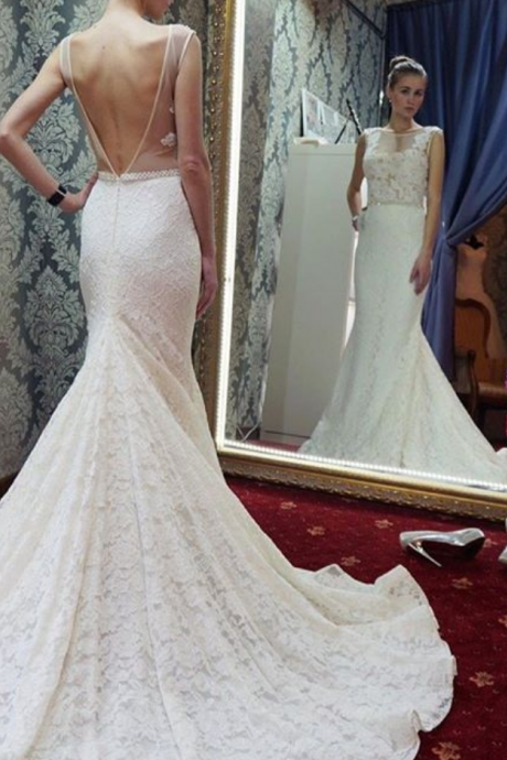Cheap wedding dresses Cheap wedding dresses Mermaid Long White Lace Wedding Dress with Backless