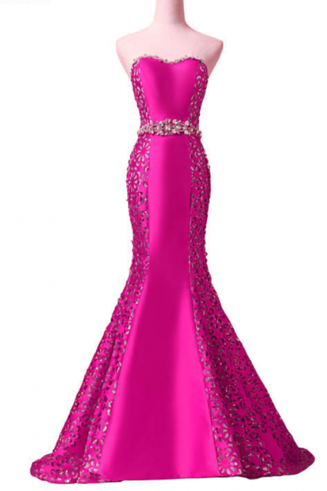 new arrival elegant evening dresses classical sexy strapless formal party dress vestidos de festa pattern crystal sashes