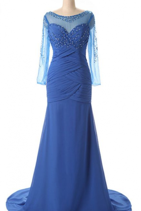 Arrive at the new party ball gown, the beading gown, and the real picture of the chiffon gown is a beautiful evening dress