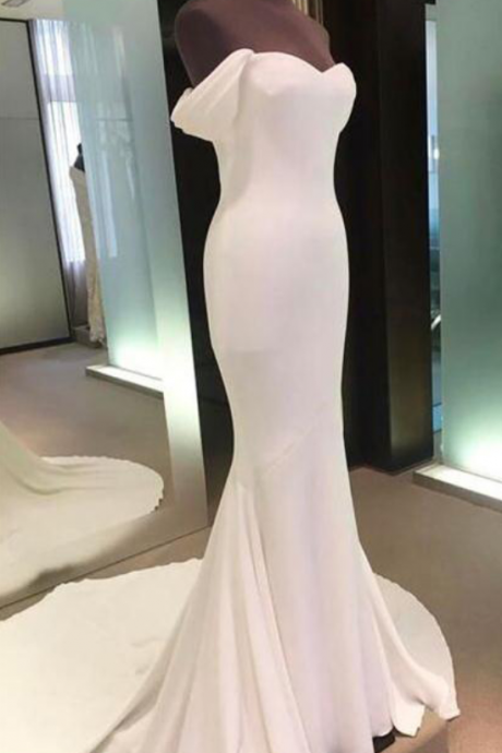 Wedding Dresses,Off The Shoulder Prom Dresses,White Prom Dresses,Mermaid Prom Dresses,Long Prom Dress,Prom Dress,Prom Dresses For Teens,Prom Gowns,Party Dresses,Simple Cheap Prom Dresses