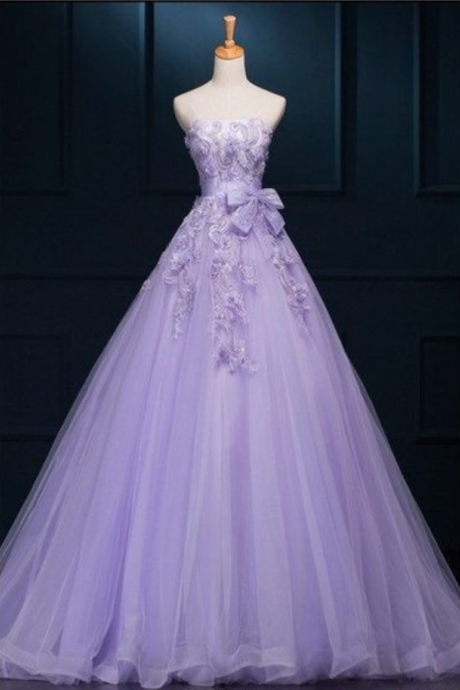 New Arrival Ball Gown Floor-length Luxury Appliques Wedding Dresses,prom dress,evening dress