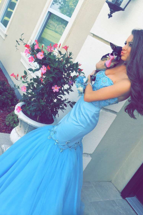Prom Dresses,Prom Gown,Mermaid Prom Dress, Aqua Prom Dress,Prom Dress Cheap,Formal Dress,Evening Dress