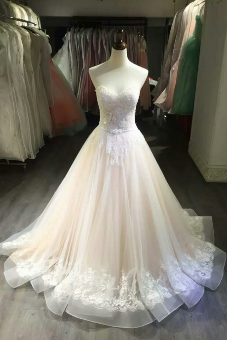 Wedding Dress, Bride Dresses, Long Wedding Dresses,Nude Wedding Dresses, Ball Gown Bridal Dresses,Bridal Dresses Sweetheart Wedding Dress,Bridal Dresses With Beaded ,Princess Wedding Dress,Lace Wedding Gown,