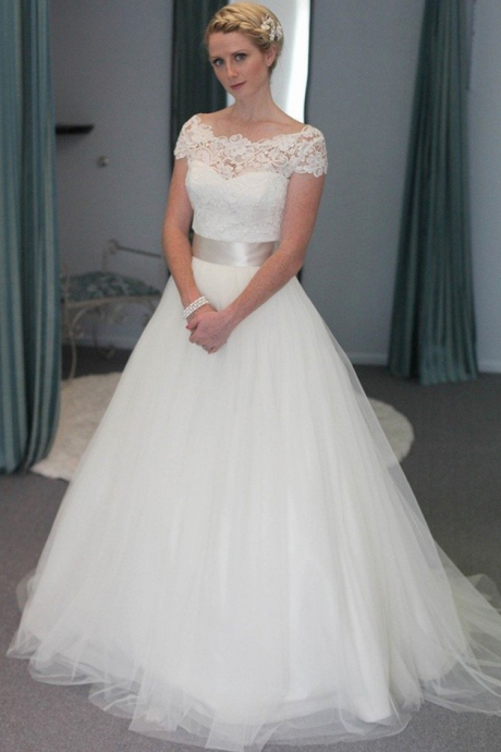 A-Line Long Wedding Dresses,Bride Wedding Dresses