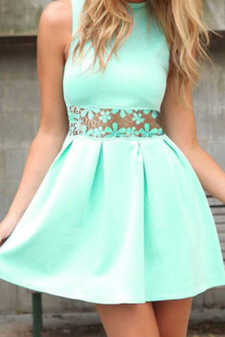 Lace Homecoming Dress,Mint Green Homecoming Dress,Mint Green Homecoming Dress,Lace Homecoming Dress