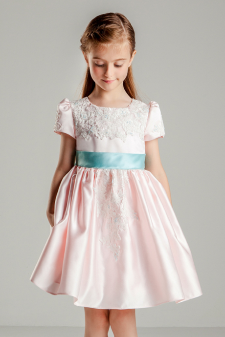 Flower Girl Dresses Children Dress,Flower Girls Dresses,Kids Dress,Child Clothing,Girl Brithday Party Dress,Princess Dress,Girl Party Dress,Flower Girls Dresses Lace Taffeta Kids Girls First Communion Dress Party Dress