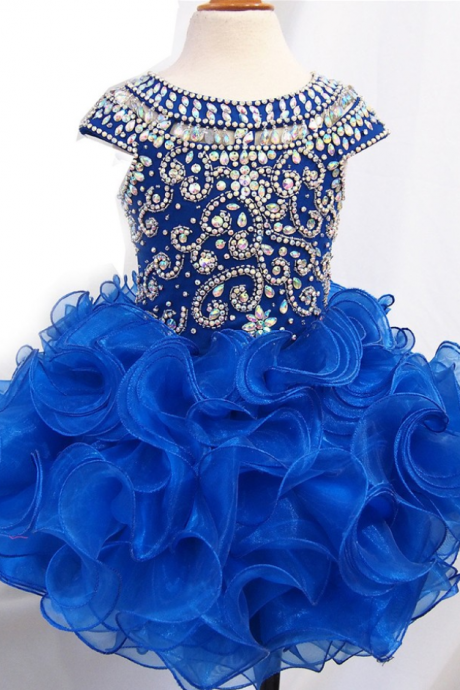 Flower Girl Dresses Royal Blue Ruffled Toddler Girl Dress Flower Girl Dresses For Weddings Girls Formal Party Dresses