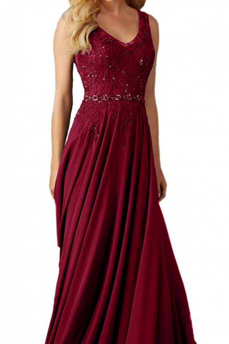Lace Prom Dresses Long Prom Dresses Burgundy Prom Dresses