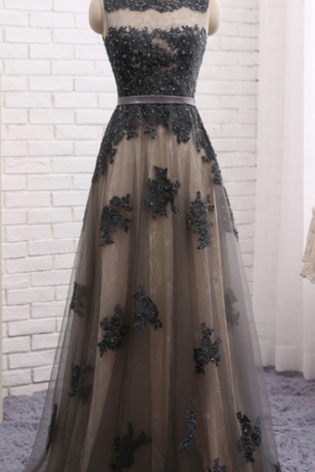 skirt grey lace prom dress, dress skirt, dress skirt, elegant formal dresses,evening dress, evening dress,Evening Dress