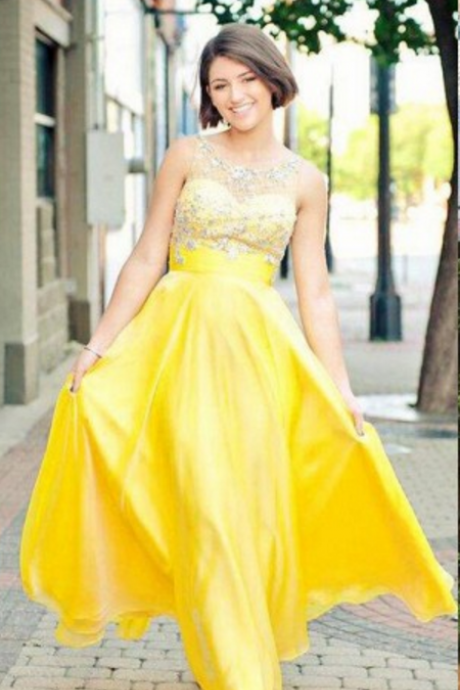 A Line Prom Dress, Yellow Prom Dress, Cheap Prom Dress, Long Prom Dress, Beading Prom Dress, Off Shoulder Prom Dress, Prom Dresses
