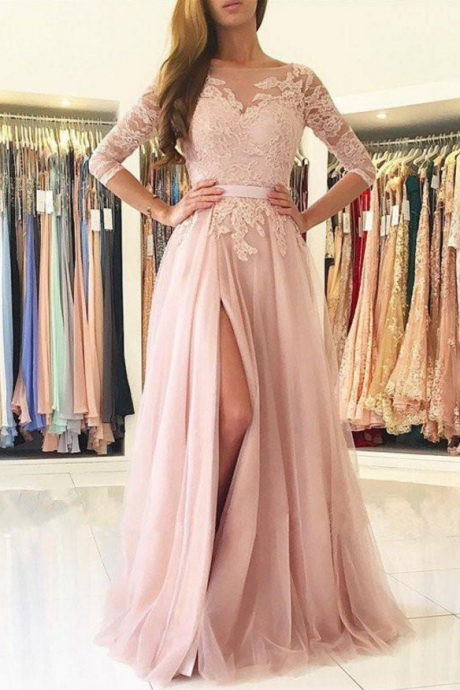Prom Dress,Hot Pink Prom Dress,Mermaid Long Prom Dress,High Slit Prom Dress, Evening Dresses for Women,Backless Prom Dresses,Long Mermaid Prom Dresses,Cheap Prom Dress,Formal Dress