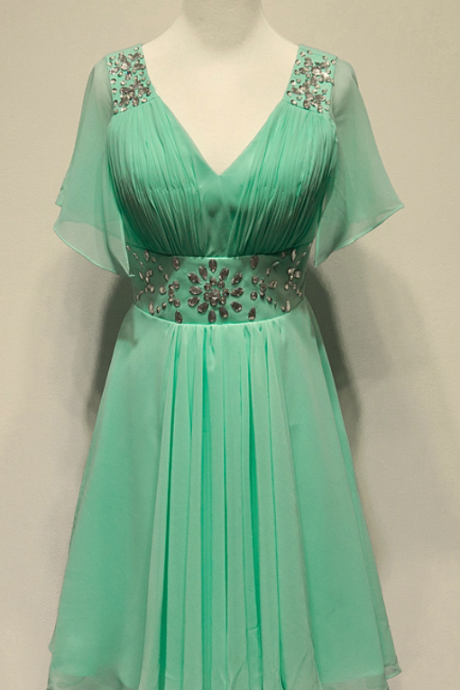 prom dresses,Short Prom Dresses,Mint Green Prom Dresses,Cap Sleeve Prom Dress,2016 Cheap prom dresses,Short Evening Dress,Graduation Dresses, Homecoming Dresses, Cocktail Dresses,Formal Gowns