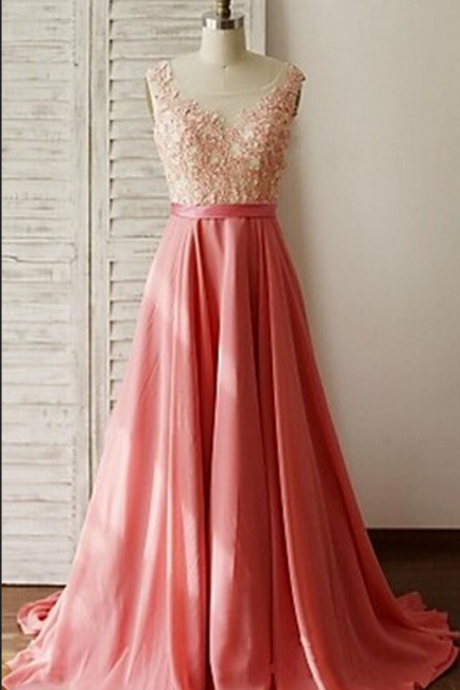 Beautiful Handmade Pink Long Prom Dress, with Lace Applique, Prom Gowns, Party Dresses, Evening Gowns, Formal Dresses,Wedding Guest Prom Gowns, Formal Occasion Dresses,Formal Dress
