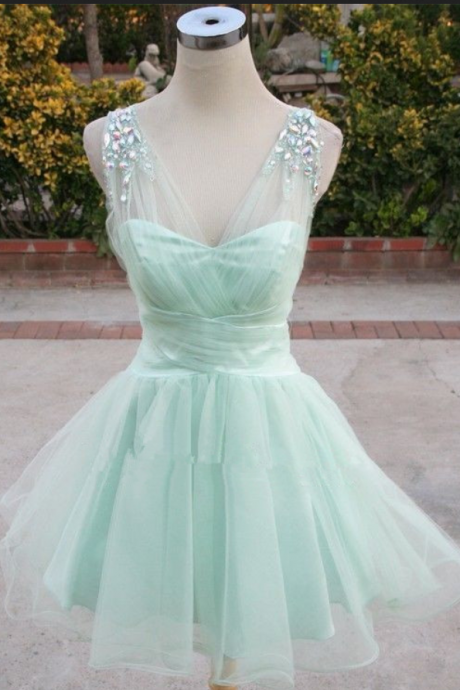 Homecoming Dress,Cocktail Dress,Homecoming Dresses,Mint Green Homecoming Dress,Sparkle Homecoming Dresses,2016 Style Homecoming Gowns,Fashion Prom Gowns,Classy Sweet 16 Dress,Homecoming Dresses,Tulle Cocktail Dress,Evening Gowns