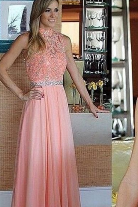 Prom Dress,High Neck Evening Dress, Sleeveless Evening Dress, Appliques Evening Dress, Long Evening Dress,Formal Evening Dress, Mermaid Evening Dress, Plus Size Evening Dress
