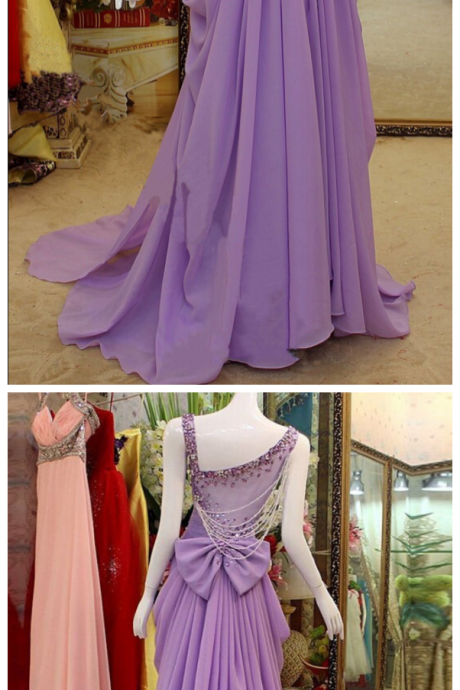Fashion Chiffon Prom Dress ,Long Homecoming Dress, Back to School Party Gown