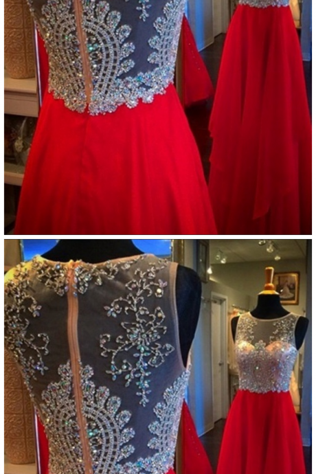 Red Prom Dress,Homecoming Dress Long, Back to School Party Gown