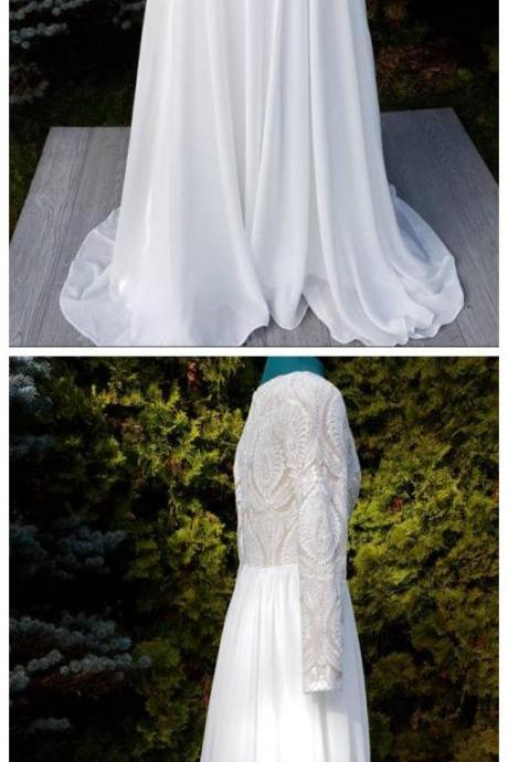 Lace, Detachable Over-Skirt,Wedding Dress.Carola Gown