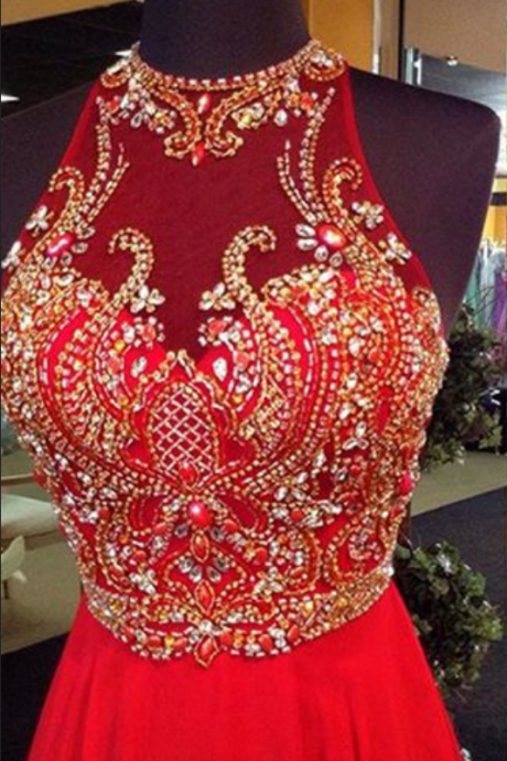 Red Prom Dresses, See through Prom Dress, Chiffon Prom Dress, dresses for prom, fashion prom dress, unique prom dress