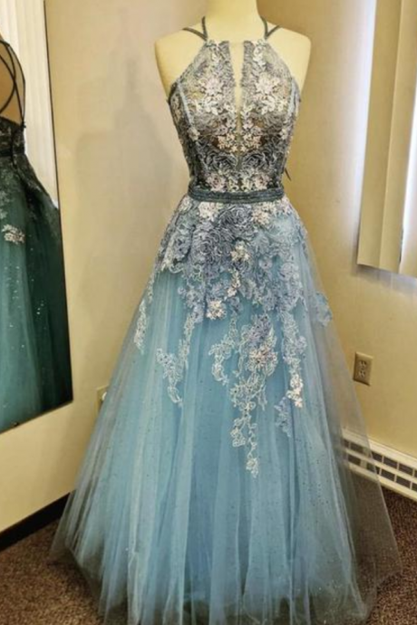 lace long prom dress evening dress
