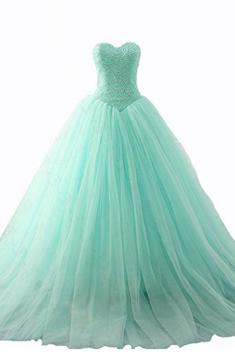 Ball Gown Evening Prom Dress Sweetheart Beading Quinceanera Dresses