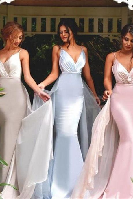 V-neck Bridesmaid Dresses,Mermaid Bridesmaid Dress,Sexy Wedding Party Dresses,Long Bridesmaid Dress,Bridesmaid Dresses