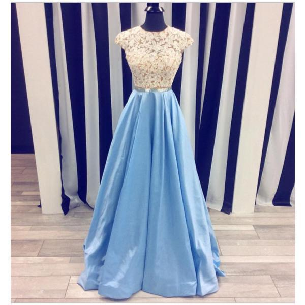 Lace Prom Dresses,Light Blue Prom Dresses,Long Prom Dresses,A-line Prom Dress,Elegant Prom Gowns,Charming Evening Dresses,Princess Prom Dress,Women Dresses,Cute Dresses
