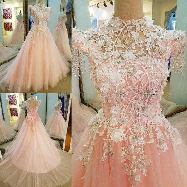 Appliques See Through Evening Dress vestido de festa Party Dresses Real Picture