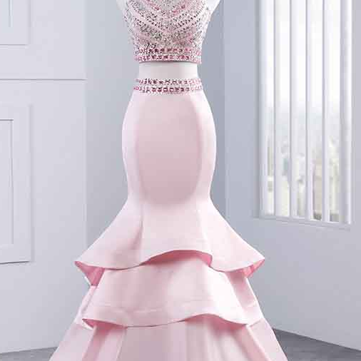 Long Prom Dresses, Sexy Prom Dresses, Two Piece Party Prom Dresses, Beading Prom Dresses, Prom Dresses,Prom Dresses Online
