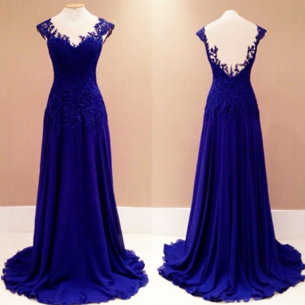 Mermaid Prom Gown,Royal Blue Evening Gowns,Party Dresses,Mermaid Evening Gowns,Sexy Formal Dress For Teens