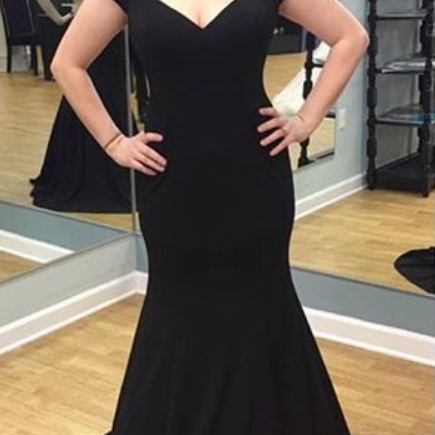 Black Prom Dresses,Mermaid Prom Dress,Simple Prom Gown,Prom Dresses,Sexy Evening Gowns,Evening Gown,Party Dress For Teens Girls