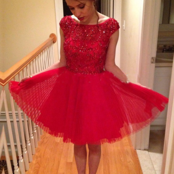 Homecoming Dress,2016 Homecoming Dress,Red Homecoming Dress,Tulle Homecoming Dress,Short Prom Dress,Country Homecoming Gowns,Sweet 16 Dress,Simple Homecoming Dress,Casual Parties Gowns