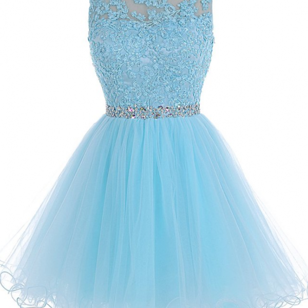 Tulle Homecoming Dress,Lace Homecoming Dress,Blue Homecoming Dress,Fitted Homecoming Dress,Short Prom Dress,Homecoming Gowns,Cute Sweet 16 Dress For Teens