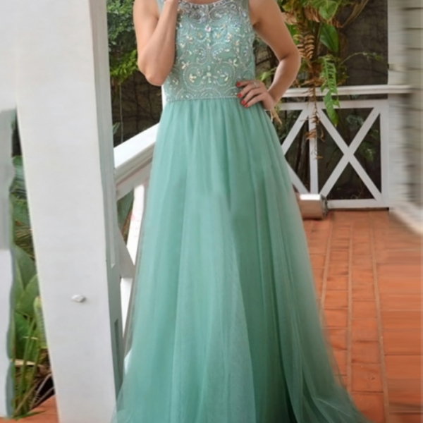 New Arrival Long Evening Dress,Formal Evening Gown,Tulle Prom Dress,Formal Gown