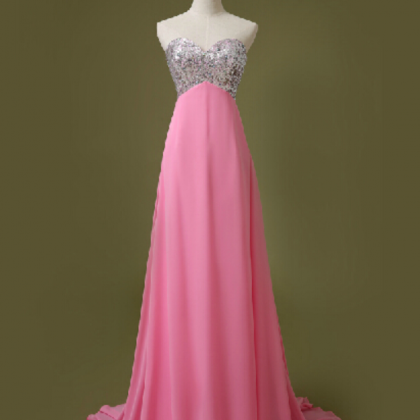 New Arrival Long Evening Dress,Formal Evening Gown,Backless Chiffon Prom Dress,Formal Gown