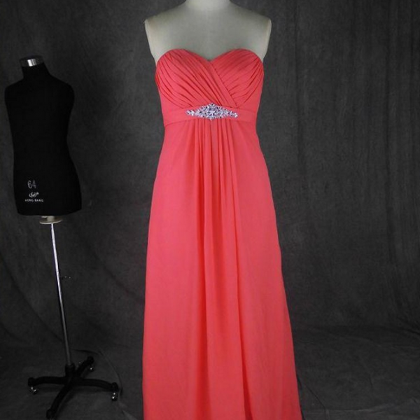 Long Bridesmaid Dress, Sweetheart Bridesmaid Dress, Chiffon Bridesmaid Dress, Dress For Bridesmaid, Cheap Bridesmaid Dress, Custom Bridesmaid Dress