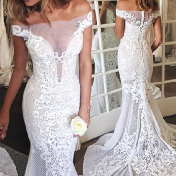 Zipper Lace Lace Wedding Dress,Court Train Sweetheart Wedding Dresses Princess