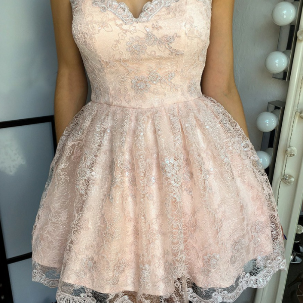 Sweetheart Homecoming Dresses,A-line Homecoming Dresses,Lace Homecoming Dresses