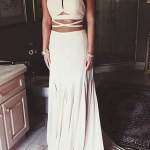 White sexy prom dresses, halter prom dresses, a-line prom dress, dresses for prom, long prom dresses, evening dress, formal dress