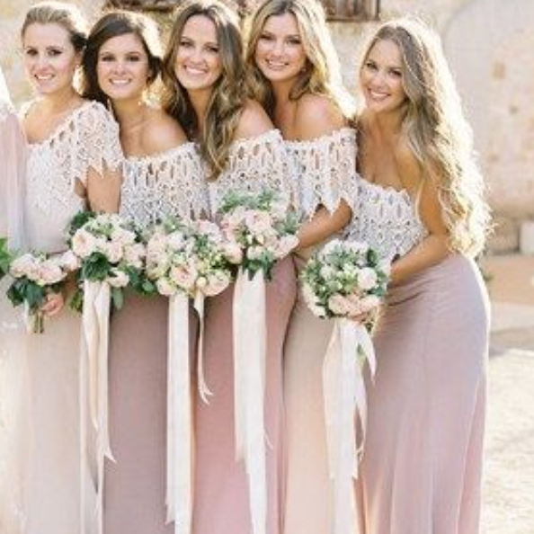 Simple Mermaid Prom Dress,Floor Length Bridesmaid Dress,Strapless Bridesmaid Dress
