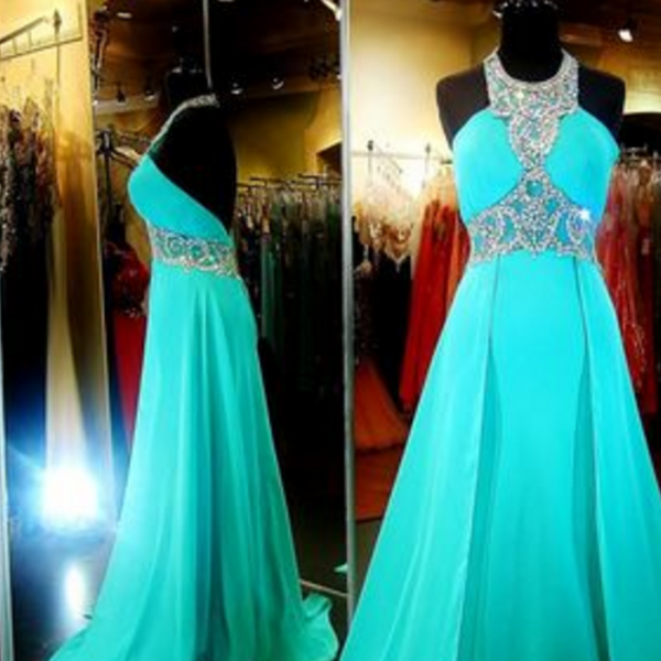 New Arrival Luxury blue Prom Dress,Long Prom Dress,Evening Dress,blue Evening Gown