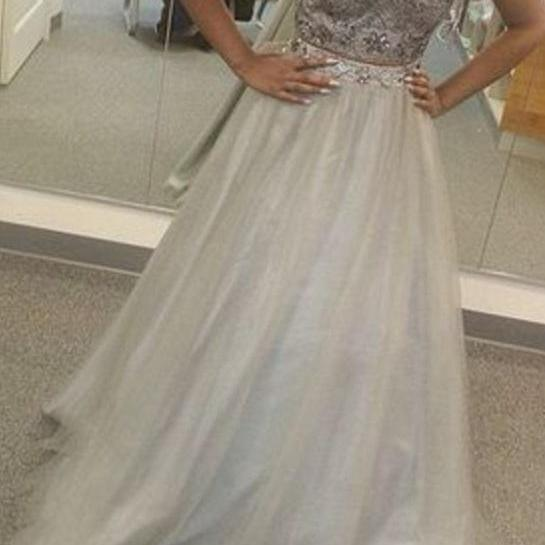 Sexy Prom Dress,Prom Dress,Prom Dresses,Sexy Dress,Charming Prom Dress,Grey Formal Dress,2 pieces Prom Gown For Teens