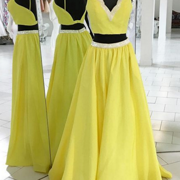 2 Pieces Prom Dress,Prom Dress,High Quality Prom Dress,long Prom Dress,Evening Dress