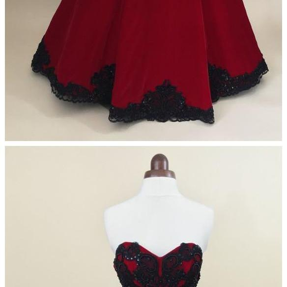 Red ball gown, prom dress, evening gown