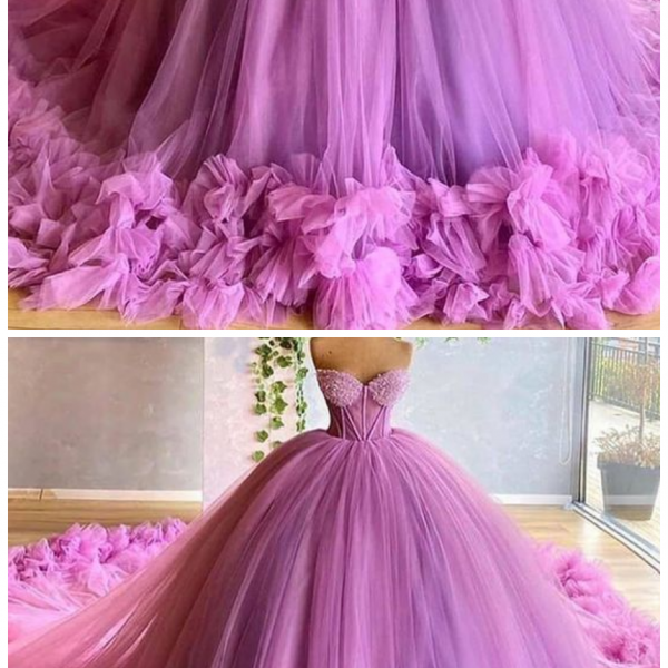 Gorgeous Sweetheart Beading Bodice Tulle Ball Gown