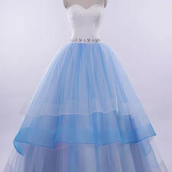 Beautiful Prom Dresses Sweetheart Ball Gown Long Prom Dress/Evening Dress