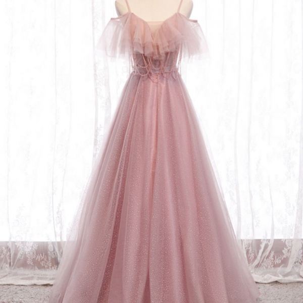 Sweetheart tulle long prom dress tulle formal dress