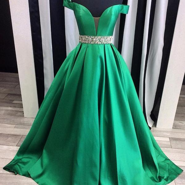 New Prom Gowns,Charming Evening Dresses, Charming Prom Dresses,O-Neck Prom Dress,Beading Prom Dress